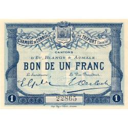 Le Tréport - Pirot 71-2 - 1 franc - Lettre A - Sans série - 1915 - Etat : pr.NEUF