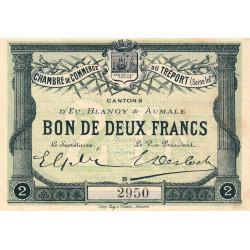 Le Tréport - Pirot 71-3 variété - 2 francs - Lettre B - Sans série - 1915 - Etat : SUP