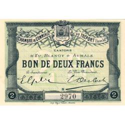 Le Tréport - Pirot 71-3 variété - 2 francs - Lettre B - Sans série - 1915 - Etat : NEUF