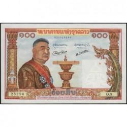 Laos - Pick 6 - 100 kip - Série Q.9 - 1957 - Etat : SUP