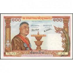 Laos - Pick 6 - 100 kip - Série A.12 - 1957 - Etat : pr.NEUF