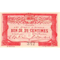 Le Tréport - Pirot 71-4 variété - 25 centimes - Lettre D - Sans série - 2e émission - 1915 - Etat : SUP+