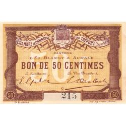 Le Tréport - Pirot 71-5 - 50 centimes - Lettre C - Sans série - 2e émission - 1915 - Petit numéro - Etat : SPL+