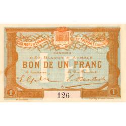 Le Tréport - Pirot 71-6 variété - 1 franc- Lettre A - Sans série - 2e émission - 1915 - Petit numéro - Etat : SPL+