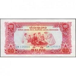Laos - Pick 20b - 10 kip - Série QM - 1968 - Etat : NEUF