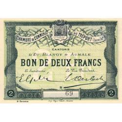 Le Tréport - Pirot 71-7 - 2 francs - Lettre B - Sans série - 2e émission - 1915 - Petit numéro - Etat : pr.NEUF