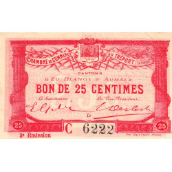 Le Tréport (Eu, Blangy, Aumale) - Pirot 71-08b-C - 25 centimes - 1915 - Etat : SUP