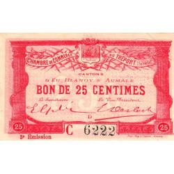 Le Tréport - Pirot 71-8 variété - 25 centimes - Lettre D - Série C - 3e émission - 1915 - Etat : SUP