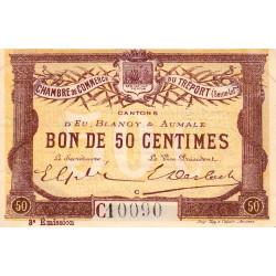 Le Tréport (Eu, Blangy, Aumale) - Pirot 71-09a-C - 50 centimes - 1915 - Etat : SUP