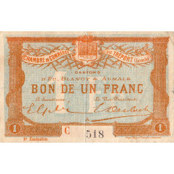 Le Tréport (Eu, Blangy, Aumale) - Pirot 71-10b-C - 1 franc - 1915 - Etat : TB+