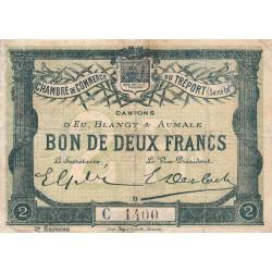 Le Tréport - Pirot 71-11 variété - 2 francs - Lettre B - Série C - 3e émission - 1915 - Etat : TB-