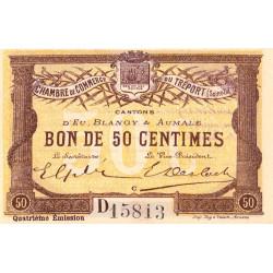 Le Tréport (Eu, Blangy, Aumale) - Pirot 71-13a-D - 50 centimes - 1916 - Etat : SPL