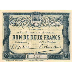 Le Tréport (Eu, Blangy, Aumale) - Pirot 71-15b-D - 2 francs - 1916 - Etat : SUP+