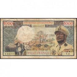 Centrafrique - Pick 2 - 1'000 francs - Série T.4 - 1974 - Etat : TB