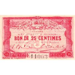 Le Tréport (Eu, Blangy, Aumale) - Pirot 71-16-E - 25 centimes - 1916 - Etat : SUP+