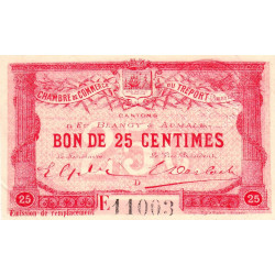 Le Tréport - Pirot 71-16 - 25 centimes - Lettre D - Série E - Émission de remplacement - 1916 - Etat : SUP+