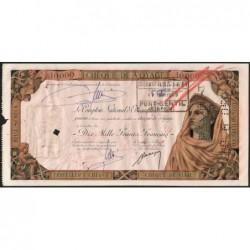 Gabon - Port-Gentil - Afrique Equatoriale - 10'000 francs - 15/04/1959 - Etat : TB+