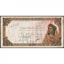 Madagascar - Tananarive - 10'000 francs - 28/05/1959 - Etat : TTB