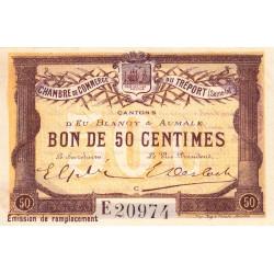 Le Tréport (Eu, Blangy, Aumale) - Pirot 71-17-E - 50 centimes - 1916 - Etat : SUP+