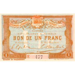 Le Tréport - Pirot 71-18 - 1 franc - Lettre A - Série E - Émission de remplacement - 1916 - Etat : SUP+