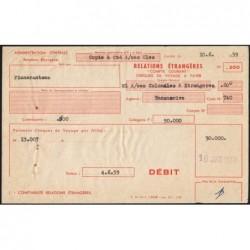 Madagascar - Fianarantsoa - 50'000 francs - 10/06/1959 - Etat : SUP