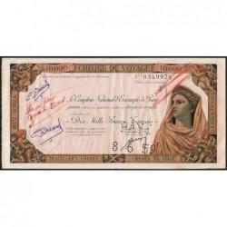 Tunisie - Tunis - 10'000 francs - 03/06/1959 - Etat : TTB