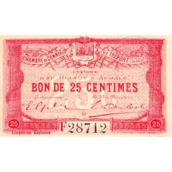 Le Tréport - Pirot 71-20 variété - 25 centimes - Lettre D - Série F - 5e émission - 1916 - Etat : SPL