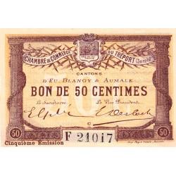 Le Tréport - Pirot 71-21 variété - 50 centimes - Lettre C - Série F - 5e émission - 1916 - Etat : SPL
