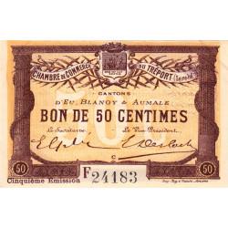 Le Tréport (Eu, Blangy, Aumale) - Pirot 71-21a-F - 50 centimes - 1916 - Etat : SUP+