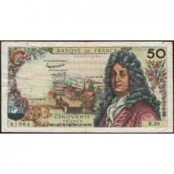 F 64-02 - 08/11/1962 - 50 francs - Racine - Série N.20 - Etat : B+
