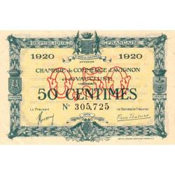 Avignon - Pirot 18-22 - 50 centimes - 1920 - Etat : SUP