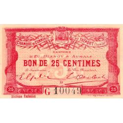 Le Tréport - Pirot 71-23 variété - 25 centimes - Lettre D - Série G - 6e émission - 1916 - Etat : SUP