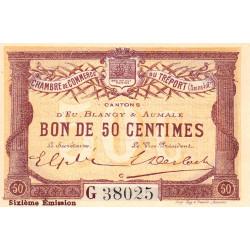 Le Tréport - Pirot 71-24 variété - 50 centimes - Lettre C - Série G - 6e émission - 1916 - Etat : NEUF
