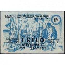 1 kg acier ordinaire - 31-03-1947 - Endossé à Lyon (69) - Série HM - Etat : TTB+