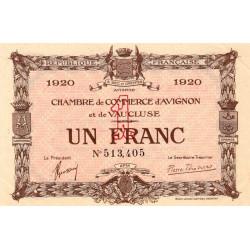 Avignon - Pirot 18-24 - 1 franc - 1920 - Etat : SUP
