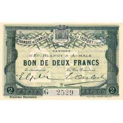 Le Tréport (Eu, Blangy, Aumale) - Pirot 71-26b-G - 2 francs - 1916 - Etat : SPL