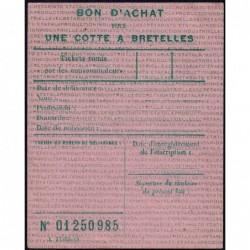 Bon d'achat cotte à bretelles - 1946 - Etat : SUP