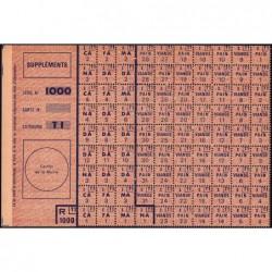 Rationnement - Supplément denrées pain viande - Série 1000 - Catégorie T1 - 1946 - Etat : NEUF
