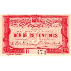 Le Tréport - Pirot 71-27 - 25 centimes - Lettre D - Série H - 7e émission - 1916 - Etat : SUP+