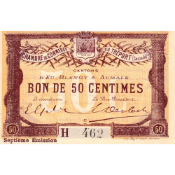 Le Tréport (Eu, Blangy, Aumale) - Pirot 71-28a-H - 50 centimes - 1916 - Etat : SPL