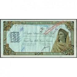 Banque Afrique Occidentale - Chèque de voyage - 25'000 francs - 1959 - Etat : TTB