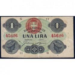 Italie - Pick S 731 - 1 lira - 17/07/1872 - Etat : TTB+