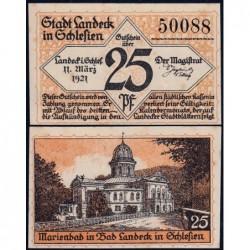 Pologne - Notgeld - Landeck (Ledyczek) - 25 pfennig - 11/03/1921 - Etat : SPL