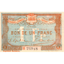 Le Tréport (Eu, Blangy, Aumale) - Pirot 71-29b-H - 1 franc - 1916 - Etat : TTB