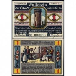 Allemagne - Notgeld - Lübbecke - 1 mark - 07/1921 - Etat : NEUF