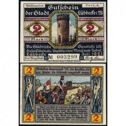 Allemagne - Notgeld - Lübbecke - 2 mark - 07/1921 - Etat : SPL