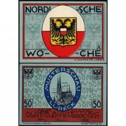 Allemagne - Notgeld - Lübeck - 50 pfennig - Série A - 01/09/1921 - Etat : NEUF