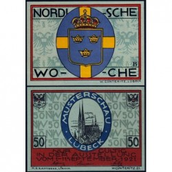 Allemagne - Notgeld - Lübeck - 50 pfennig - Série B - 01/09/1921 - Etat : NEUF