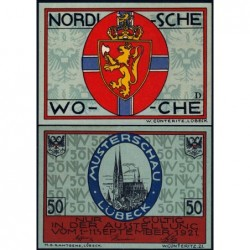 Allemagne - Notgeld - Lübeck - 50 pfennig - Série D - 01/09/1921 - Etat : NEUF