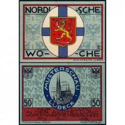 Allemagne - Notgeld - Lübeck - 50 pfennig - Série E - 01/09/1921 - Etat : SPL+